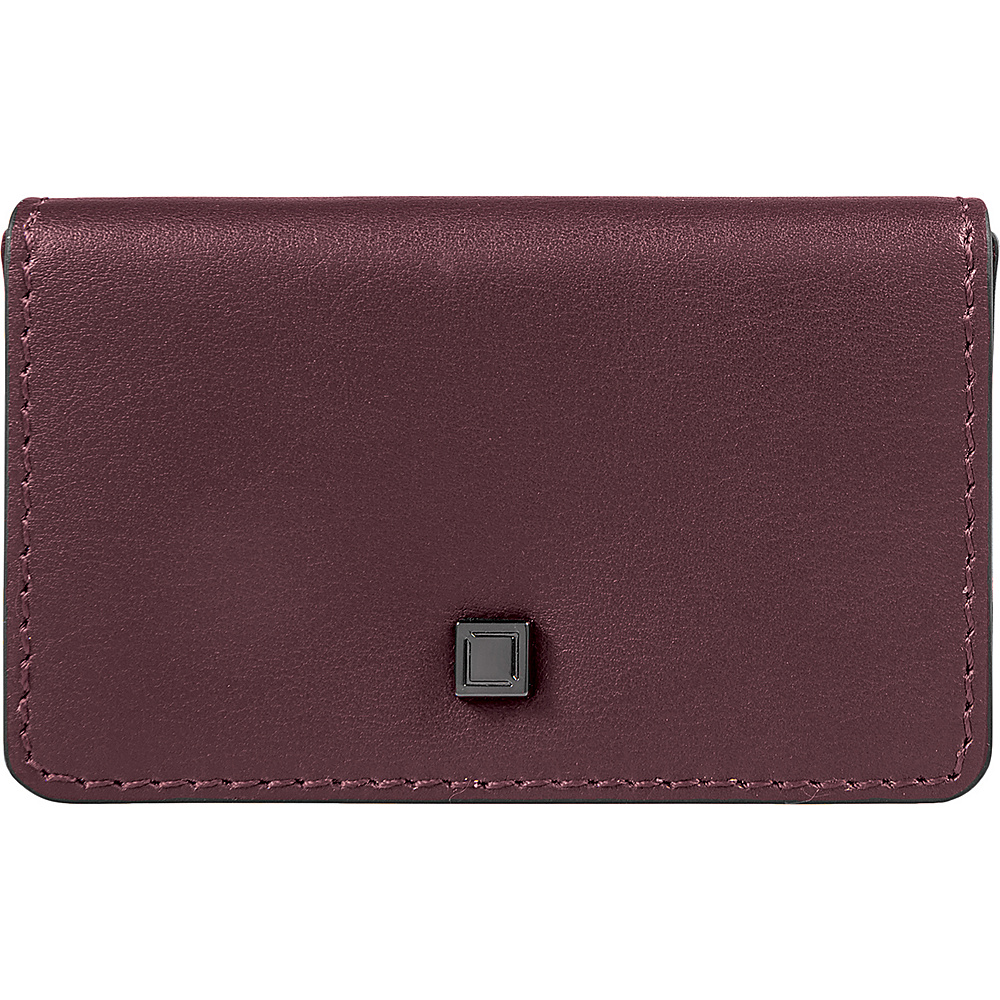 Lodis Silicon Valley RFID Mini Card Case Chianti/Taupe - Lodis Womens Wallets - Women's SLG, Women's Wallets