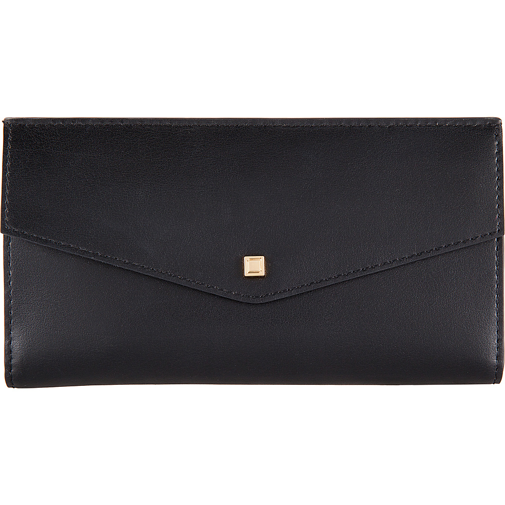 Lodis Silicon Valley RFID Amanda Continental Clutch Black/ Taupe - Lodis Womens Wallets - Women's SLG, Women's Wallets