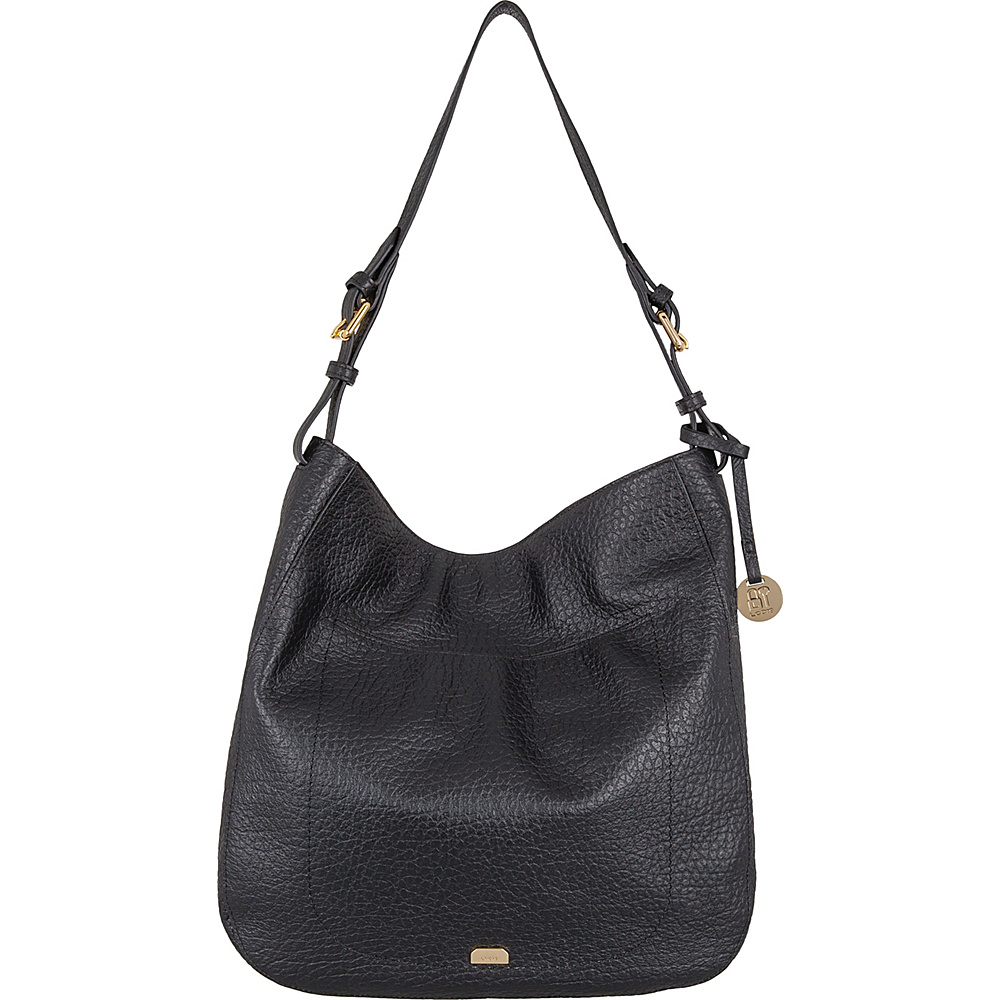 Lodis Borrego RFID Dortha Hobo Black - Lodis Leather Handbags - Handbags, Leather Handbags