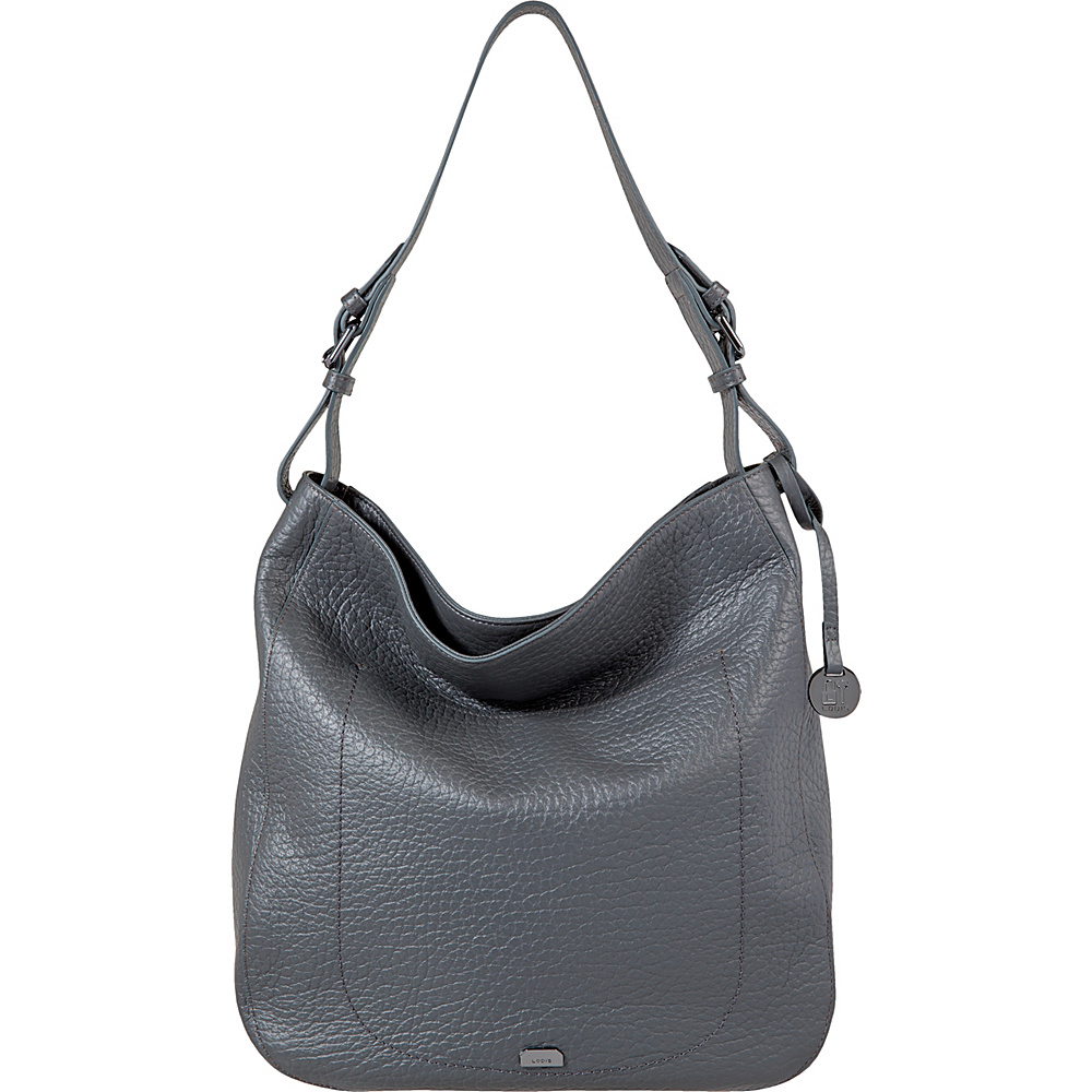 Lodis Borrego RFID Dortha Hobo Slate - Lodis Leather Handbags - Handbags, Leather Handbags