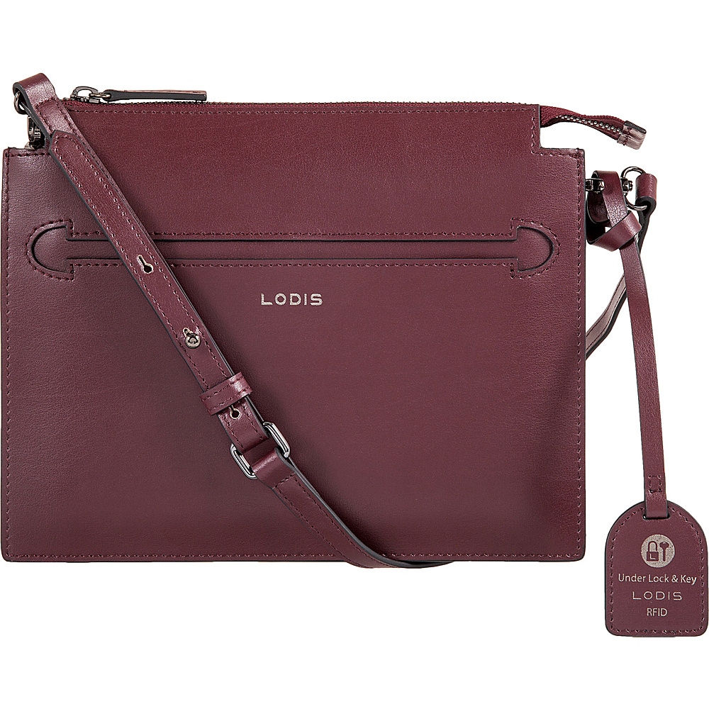 Lodis Silicon Valley RFID Kay Accordion Crossbody Chianti/Taupe - Lodis Leather Handbags - Handbags, Leather Handbags