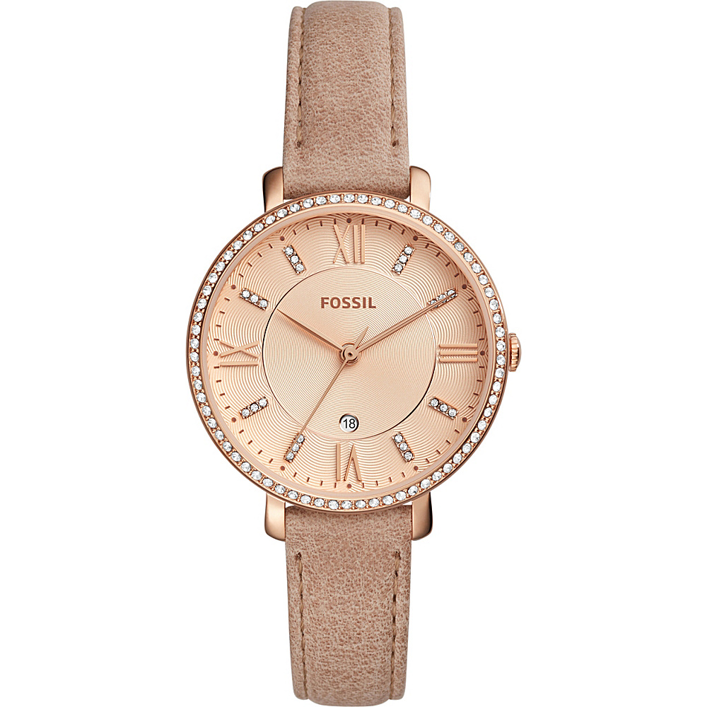 Fossil Jacqueline Three-Hand Date Leather Watch Beige(Beige) - Fossil Watches - Fashion Accessories, Watches