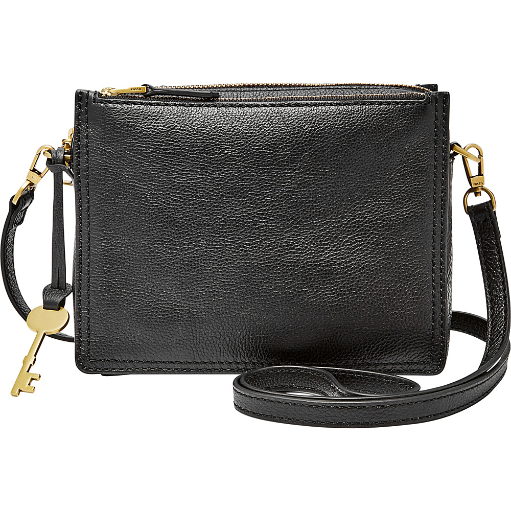 Fossil Campbell Crossbody Black - Fossil Leather Handbags - Handbags, Leather Handbags