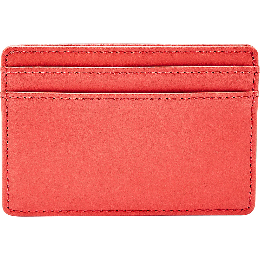 Fossil Booker Card Case Red - Fossil Mens Wallets - Work Bags & Briefcases, Men's Wallets