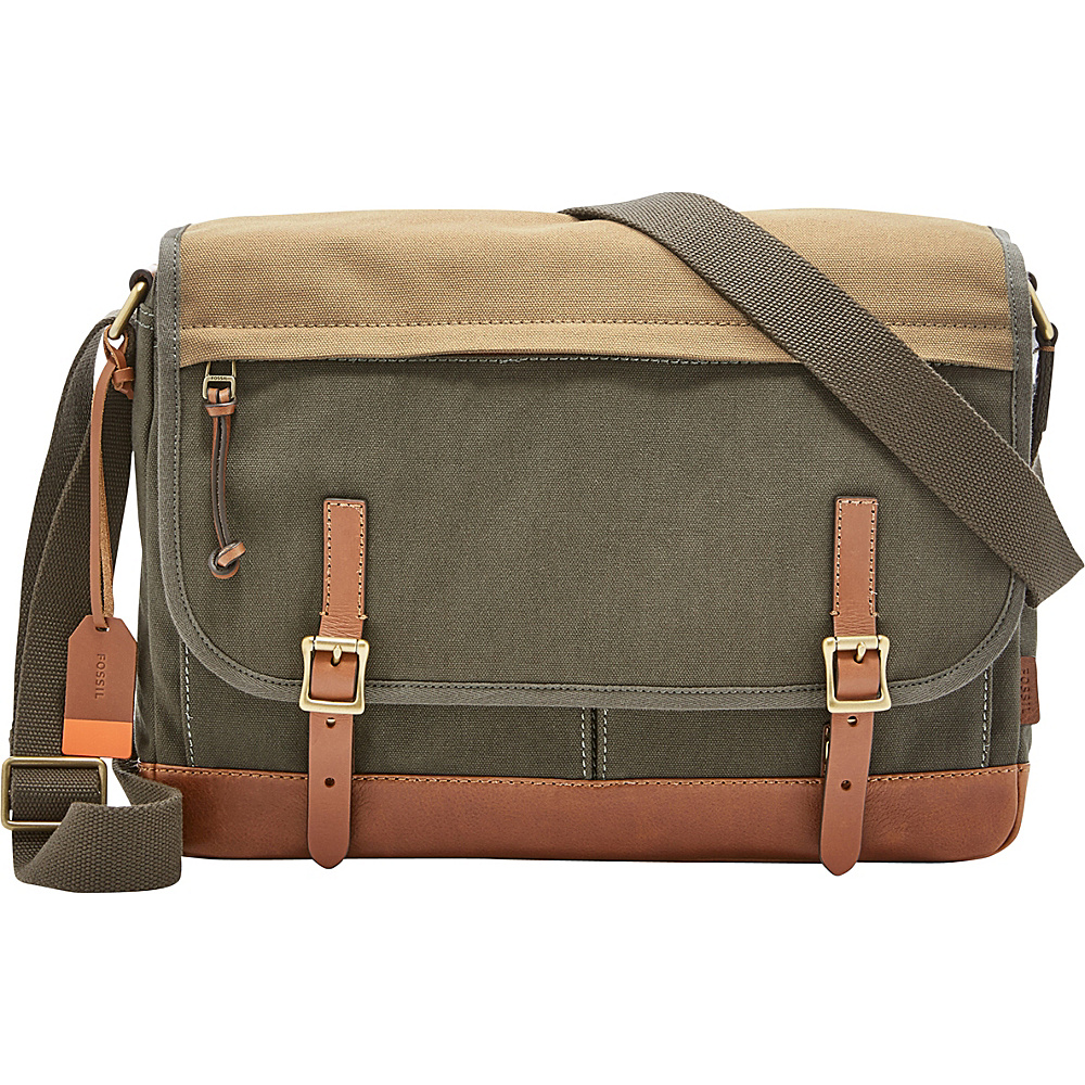 Fossil Defender Messenger Green - Fossil Messenger Bags - Work Bags & Briefcases, Messenger Bags