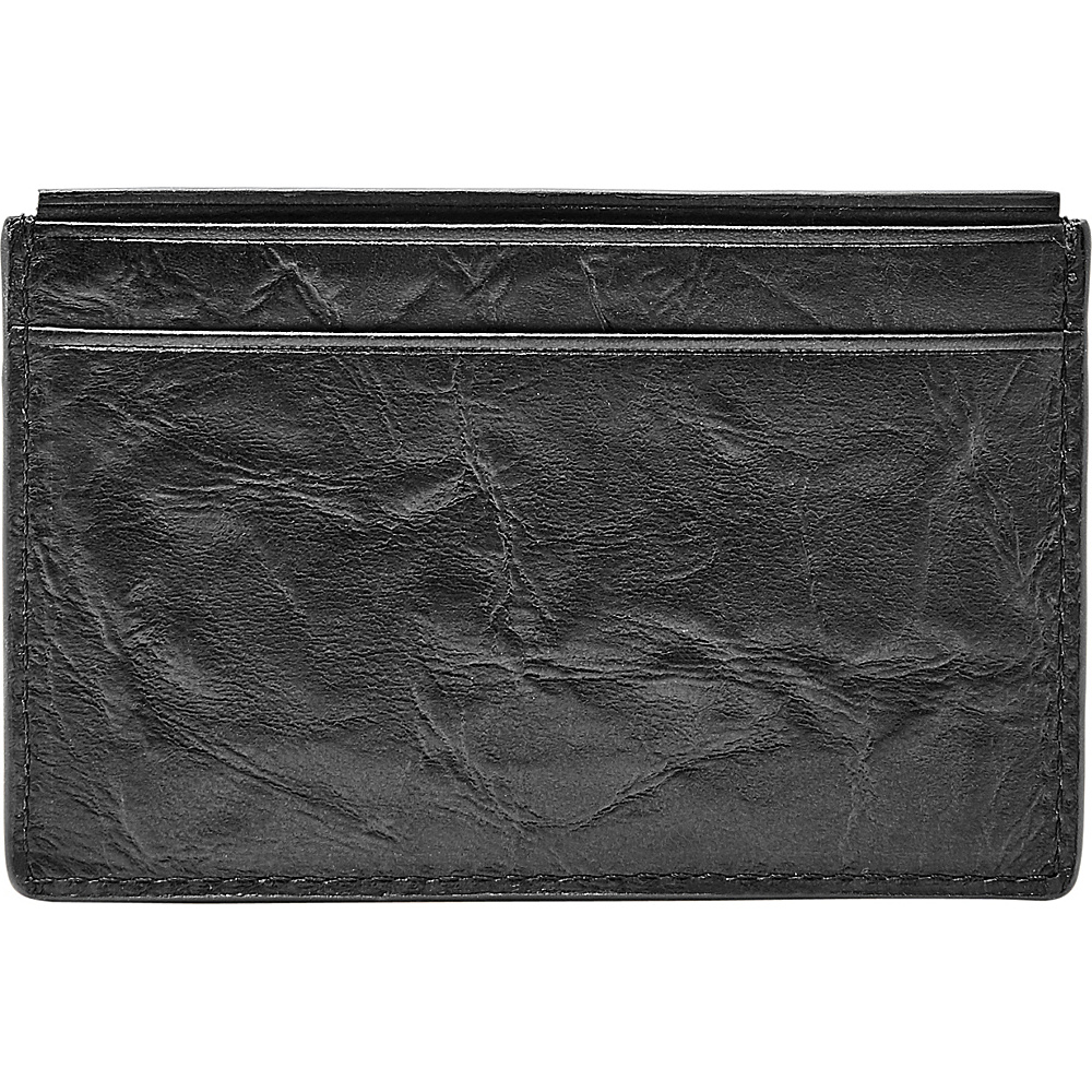 Fossil Neel Card Case Black - Fossil Mens Wallets - Work Bags & Briefcases, Men's Wallets