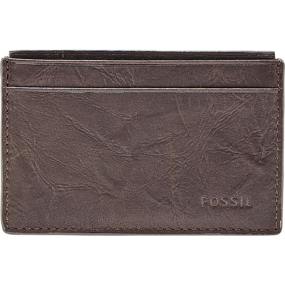 Fossil Neel Card Case Brown - Fossil Mens Wallets - Work Bags & Briefcases, Men's Wallets