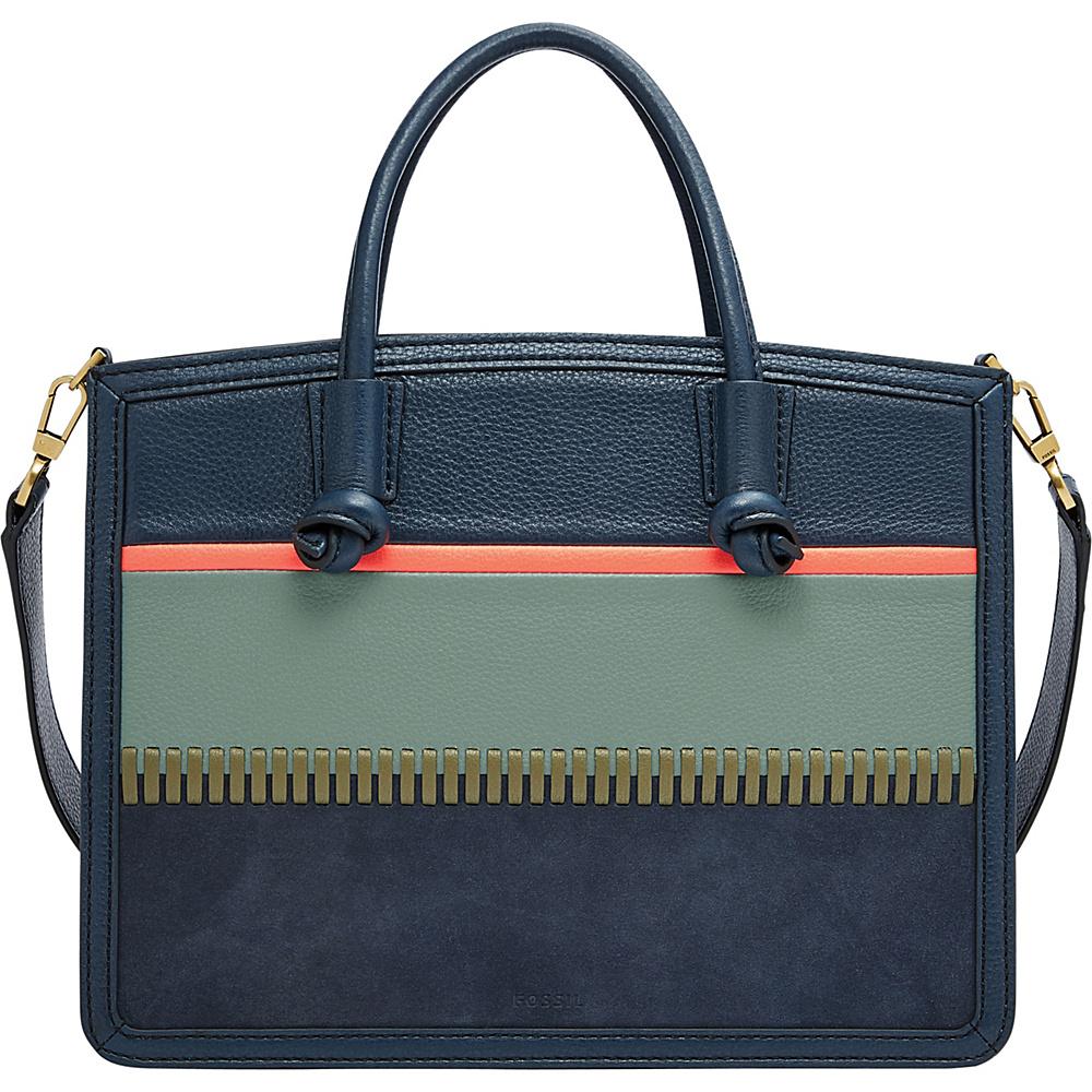 Fossil Skylar Satchel Blu - Fossil Leather Handbags - Handbags, Leather Handbags