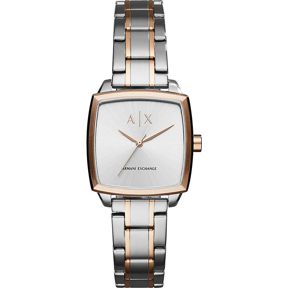 A/X Armani Exchange Dress Watch Silver/Rose Gold - A/X Armani Exchange Watches