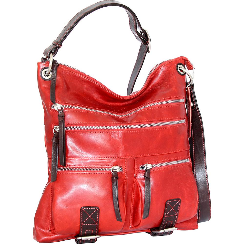 Nino Bossi Violet Bouquet Crossbody Bag Tomato - Nino Bossi Leather Handbags - Handbags, Leather Handbags