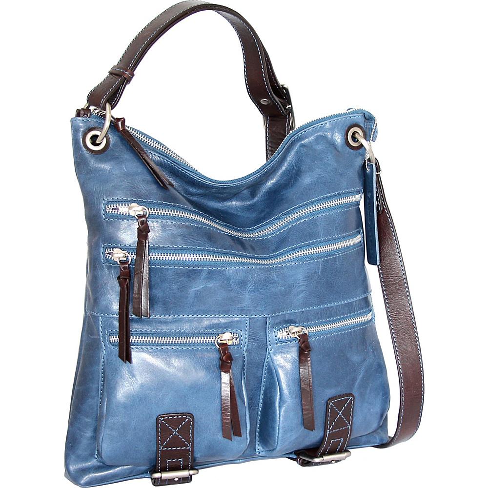 Nino Bossi Violet Bouquet Crossbody Bag Denim - Nino Bossi Leather Handbags - Handbags, Leather Handbags