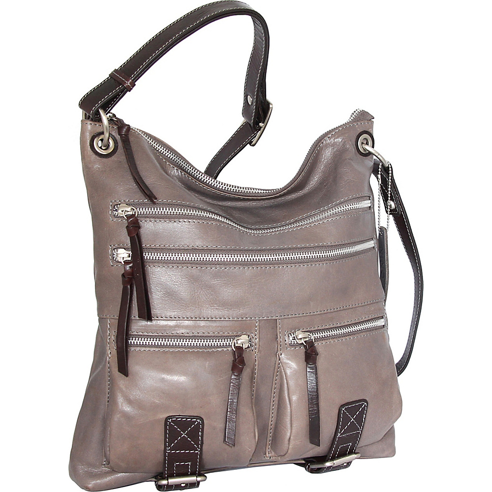 Nino Bossi Violet Bouquet Crossbody Bag Stone - Nino Bossi Leather Handbags - Handbags, Leather Handbags