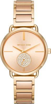 Michael Kors Watches Portia Two-Hand Sub-Eye Watch Gold - Michael Kors Watches Watches