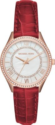 Michael Kors Watches Lauryn Three-Hand Watch Red - Michael Kors Watches Watches