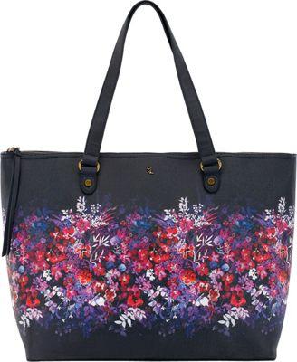 Elliott Lucca Aria Large Tote Indigo Bouquet - Elliott Lucca Designer Handbags