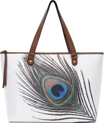 Elliott Lucca Aria Large Tote White Peacock - Elliott Lucca Designer Handbags
