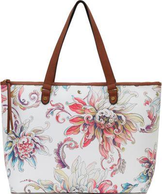 Elliott Lucca Aria Large Tote White Wildflower - Elliott Lucca Designer Handbags