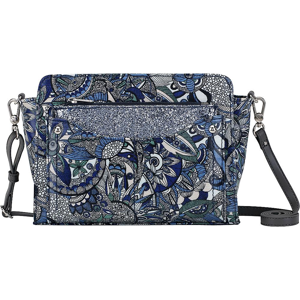 Sakroots Tracy Small Charging Crossbody Blue Steel Spirit Desert - Sakroots Fabric Handbags - Handbags, Fabric Handbags