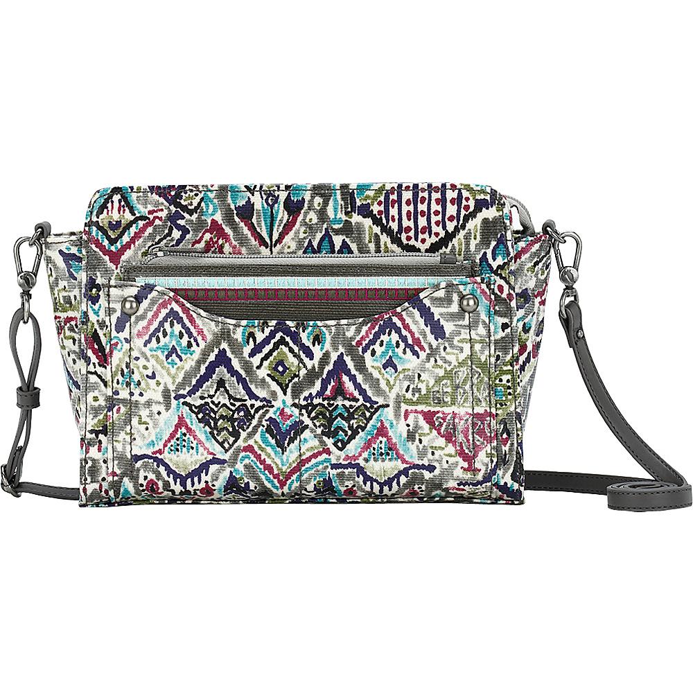 Sakroots Tracy Small Charging Crossbody Slate Brave Beauti - Sakroots Fabric Handbags - Handbags, Fabric Handbags