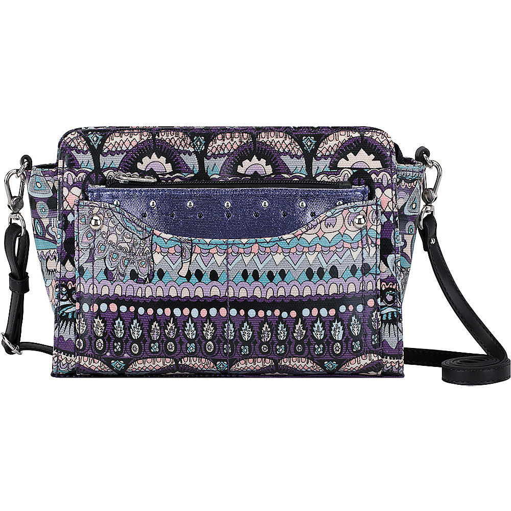 Sakroots Tracy Small Charging Crossbody Violet One World - Sakroots Fabric Handbags - Handbags, Fabric Handbags