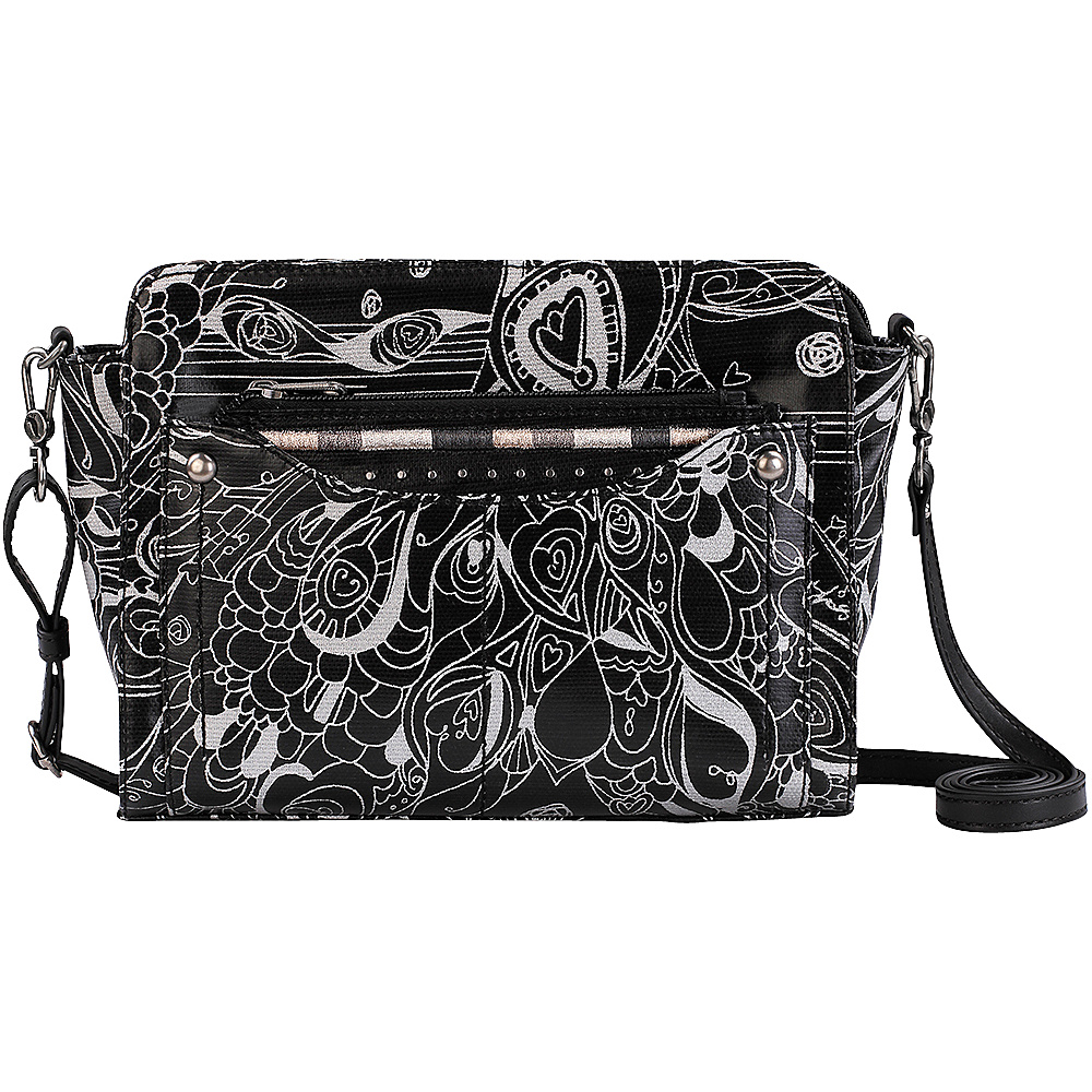 Sakroots Tracy Small Charging Crossbody Metallic Songbird - Sakroots Fabric Handbags - Handbags, Fabric Handbags