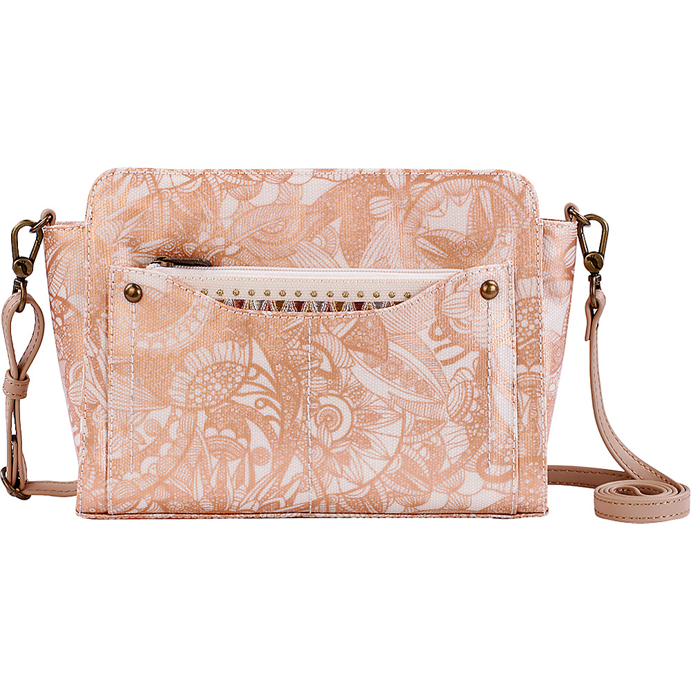 Sakroots Tracy Small Charging Crossbody Rose Gold Spirit Desert - Sakroots Fabric Handbags - Handbags, Fabric Handbags
