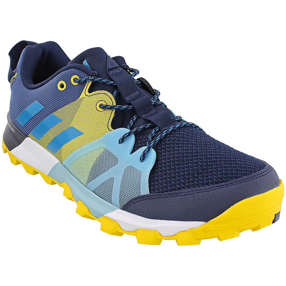 adidas outdoor Mens Kanadia 8.1 Trail Shoe 7 - Collegiate Navy/Mystery Petrol/Eqt Yellow - adidas outdoor Mens Footwear - Apparel & Footwear, Men's Footwear