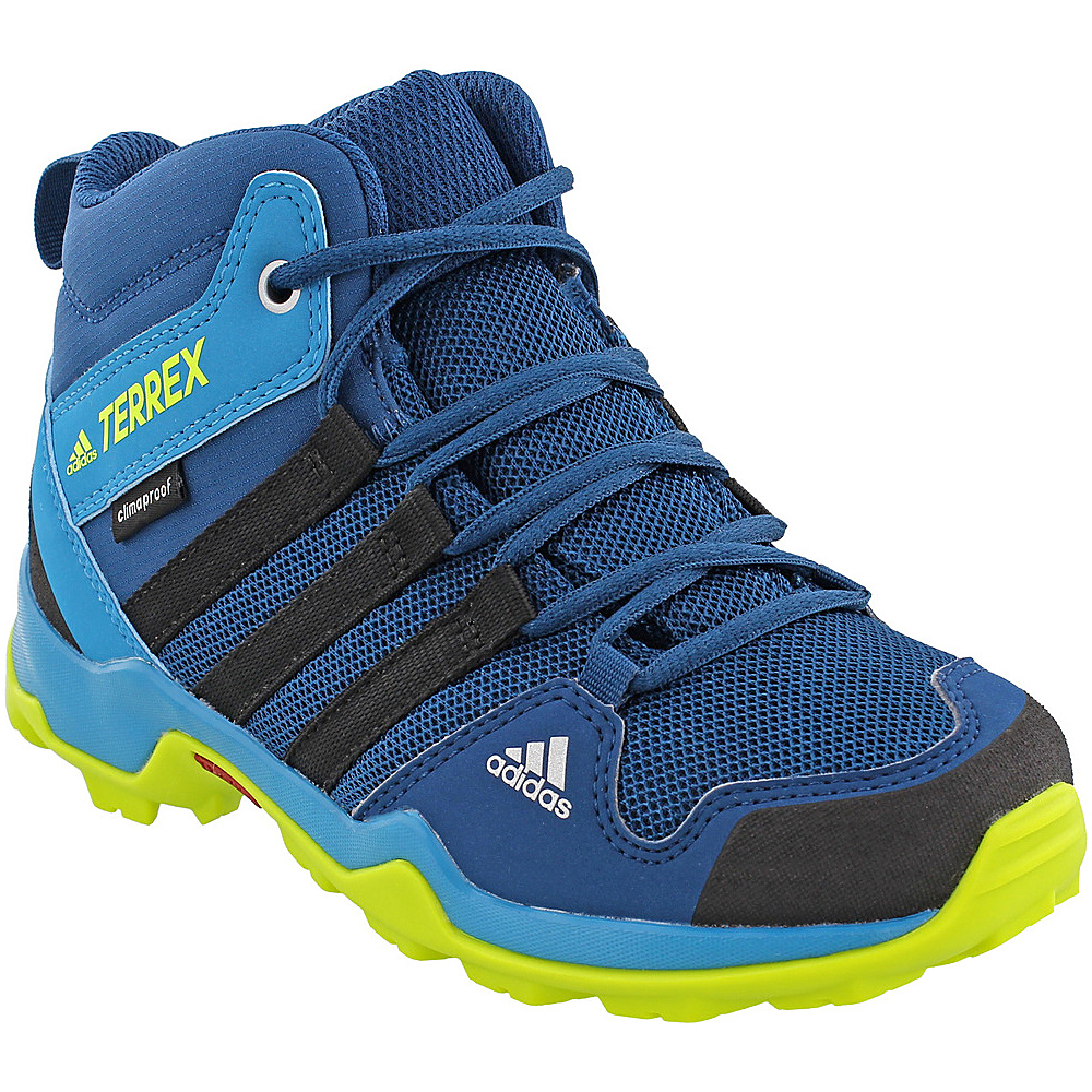 adidas outdoor Kids Terrex AX2R Mid CP Shoe 4 (US Kids) - Blue Night/Black/Semi Solar Yellow - adidas outdoor Womens Footwear - Apparel & Footwear, Women's Footwear