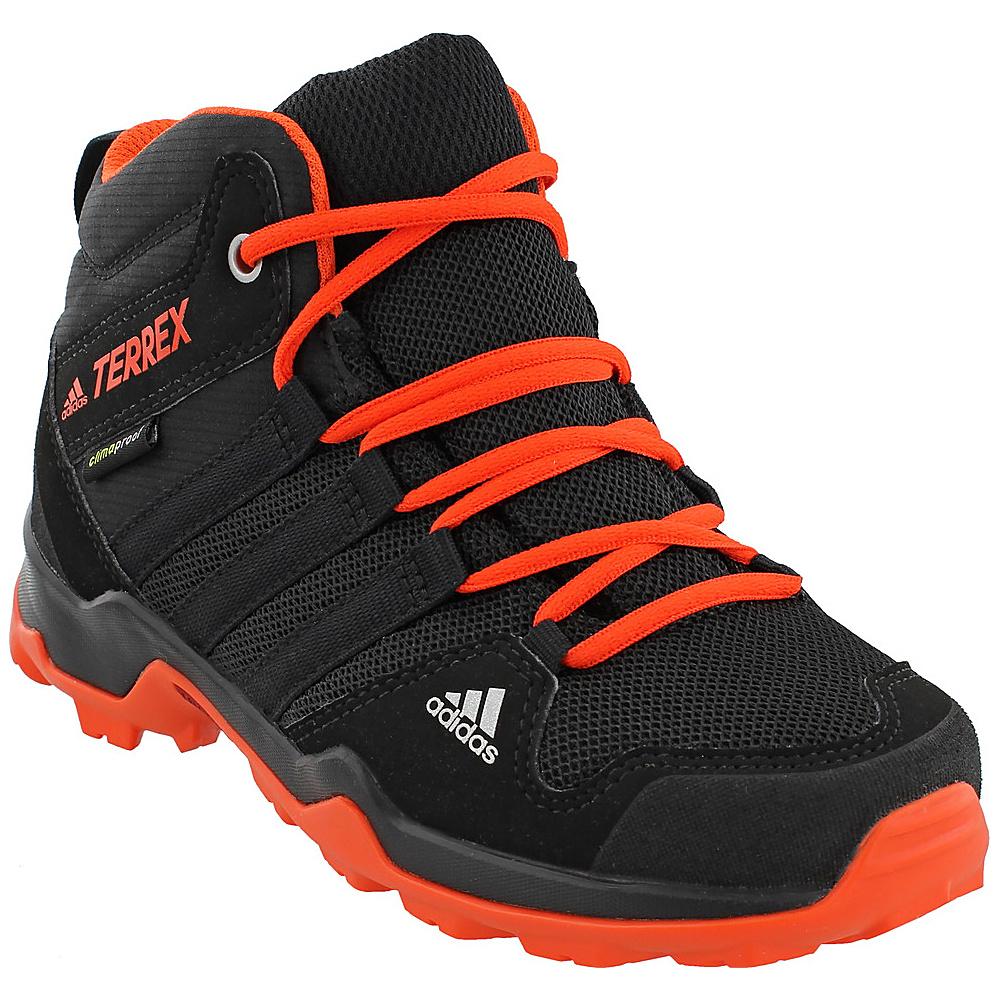 adidas outdoor Kids Terrex AX2R Mid CP Shoe 3 (US Kids) - Core Black/Core Black/Energy - adidas outdoor Womens Footwear - Apparel & Footwear, Women's Footwear