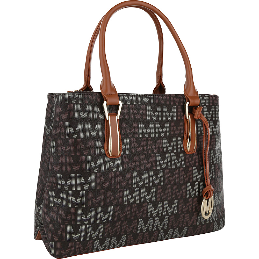 MKF Collection by Mia K. Farrow Diane M Signature Satchel Brown - MKF Collection by Mia K. Farrow Manmade Handbags - Handbags, Manmade Handbags