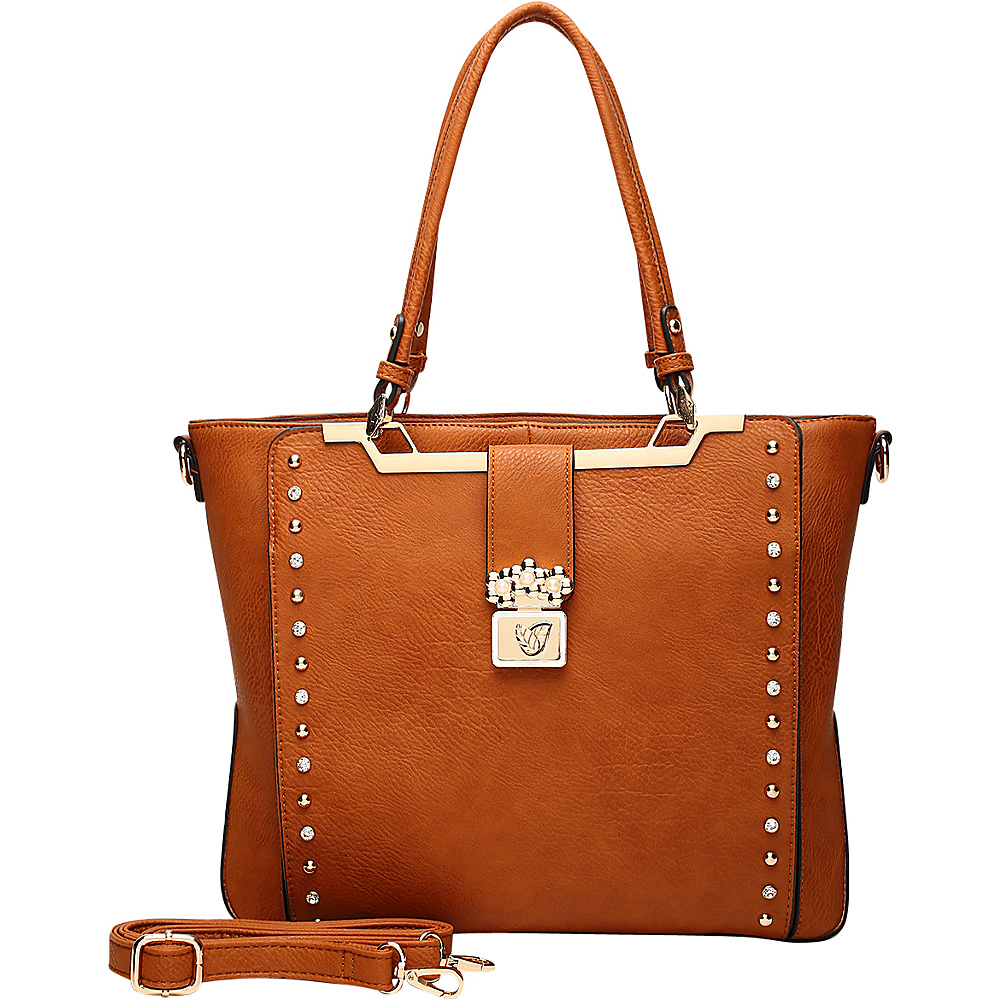 MKF Collection by Mia K. Farrow Francesca Satchel Brown - MKF Collection by Mia K. Farrow Manmade Handbags - Handbags, Manmade Handbags