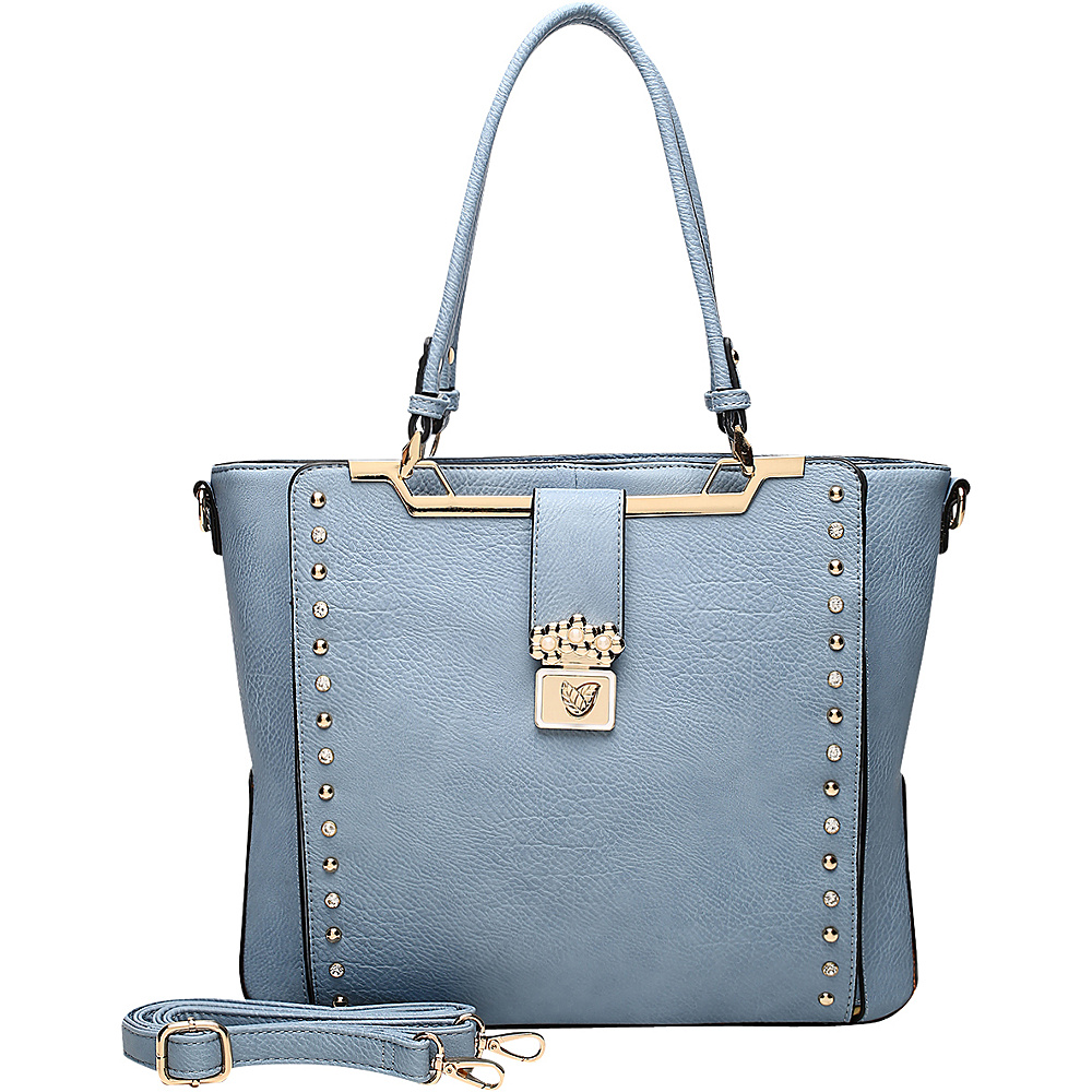 MKF Collection by Mia K. Farrow Francesca Satchel Blue - MKF Collection by Mia K. Farrow Manmade Handbags - Handbags, Manmade Handbags