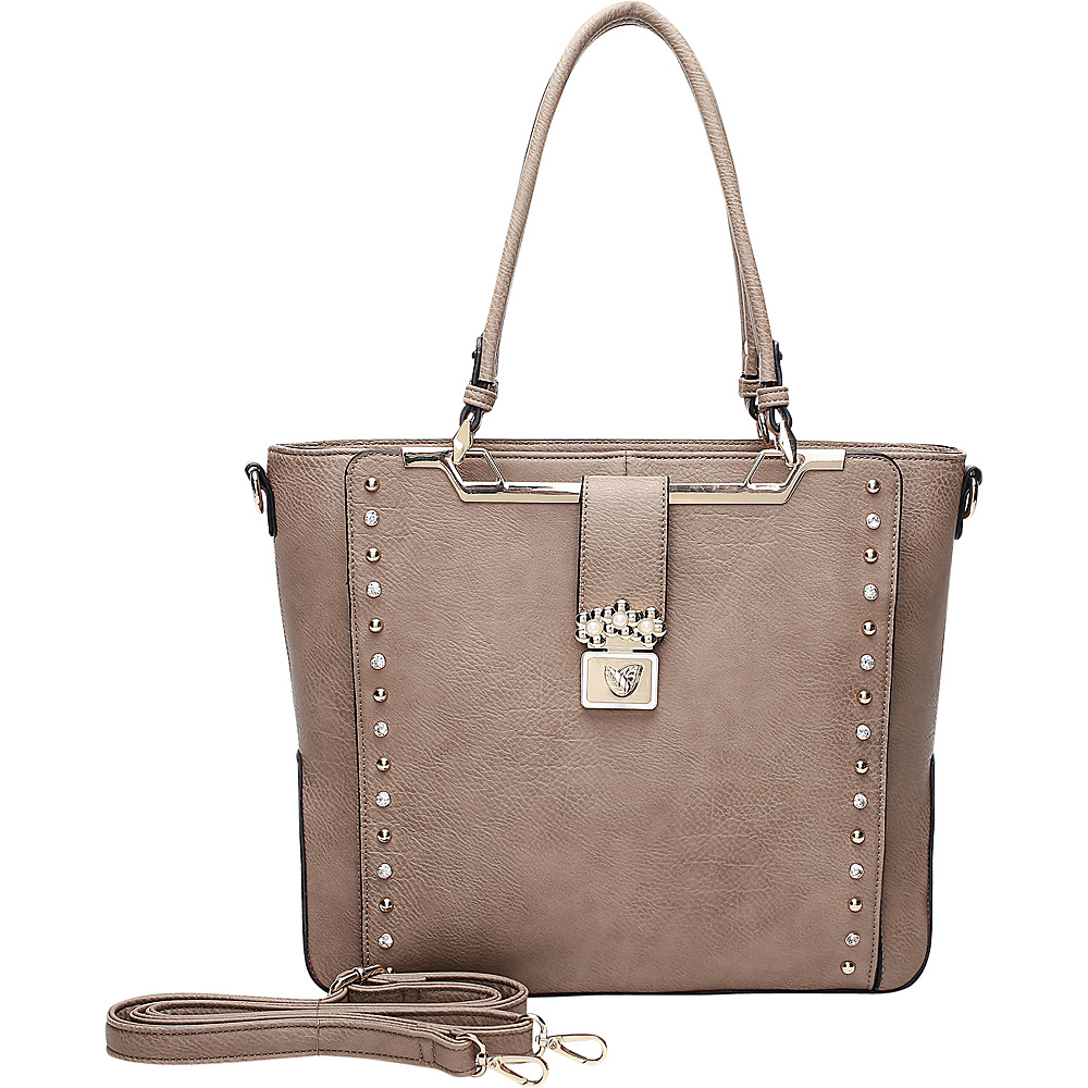 MKF Collection by Mia K. Farrow Francesca Satchel Khaki - MKF Collection by Mia K. Farrow Manmade Handbags - Handbags, Manmade Handbags