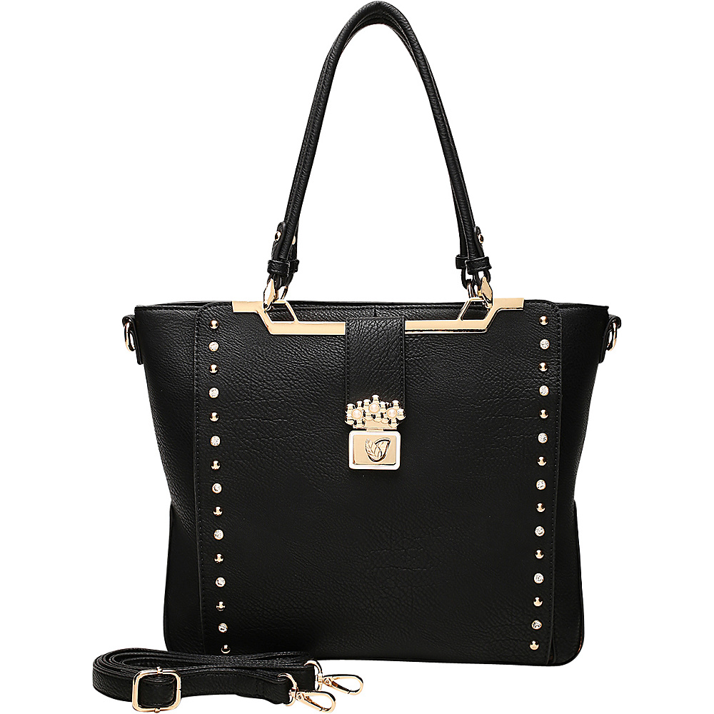 MKF Collection by Mia K. Farrow Francesca Satchel Black - MKF Collection by Mia K. Farrow Manmade Handbags - Handbags, Manmade Handbags