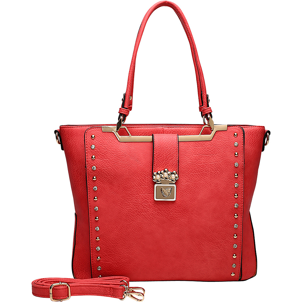 MKF Collection by Mia K. Farrow Francesca Satchel Red - MKF Collection by Mia K. Farrow Manmade Handbags - Handbags, Manmade Handbags