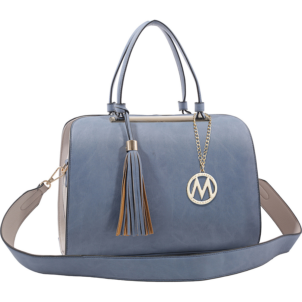 MKF Collection by Mia K. Farrow Viola Tote Blue - MKF Collection by Mia K. Farrow Manmade Handbags - Handbags, Manmade Handbags