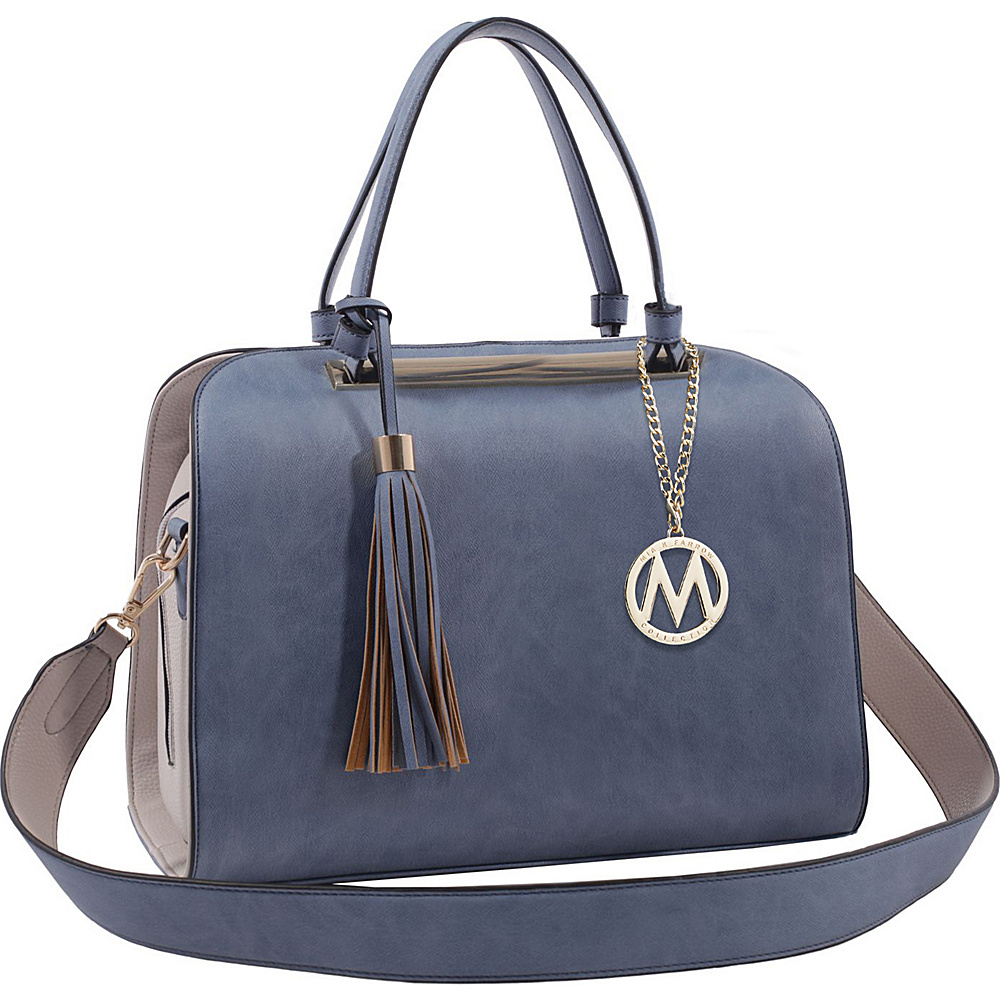 MKF Collection by Mia K. Farrow Viola Tote Dark Blue - MKF Collection by Mia K. Farrow Manmade Handbags - Handbags, Manmade Handbags