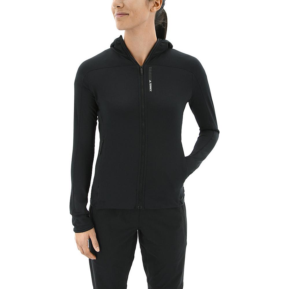 adidas outdoor Womens Terrex Tracerocker Hooded Fleece L - Black - adidas outdoor Womens Apparel - Apparel & Footwear, Women's Apparel