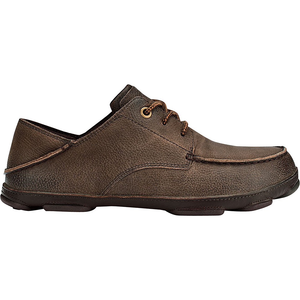OluKai Mens Hamakua Poko Shoe 7 - Dark Wood/Dark Wood - OluKai Mens Footwear - Apparel & Footwear, Men's Footwear