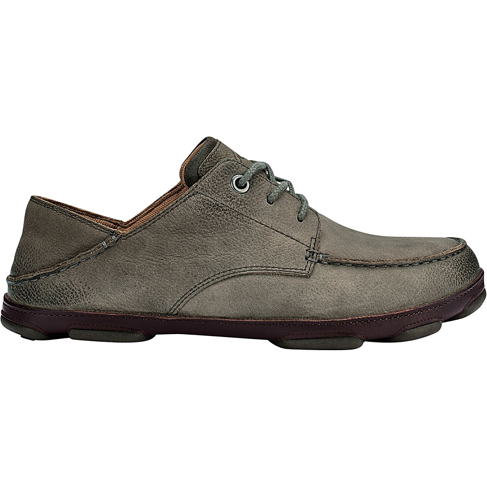 OluKai Mens Hamakua Poko Shoe 9.5 - Storm Grey/Dark Wood - OluKai Mens Footwear - Apparel & Footwear, Men's Footwear