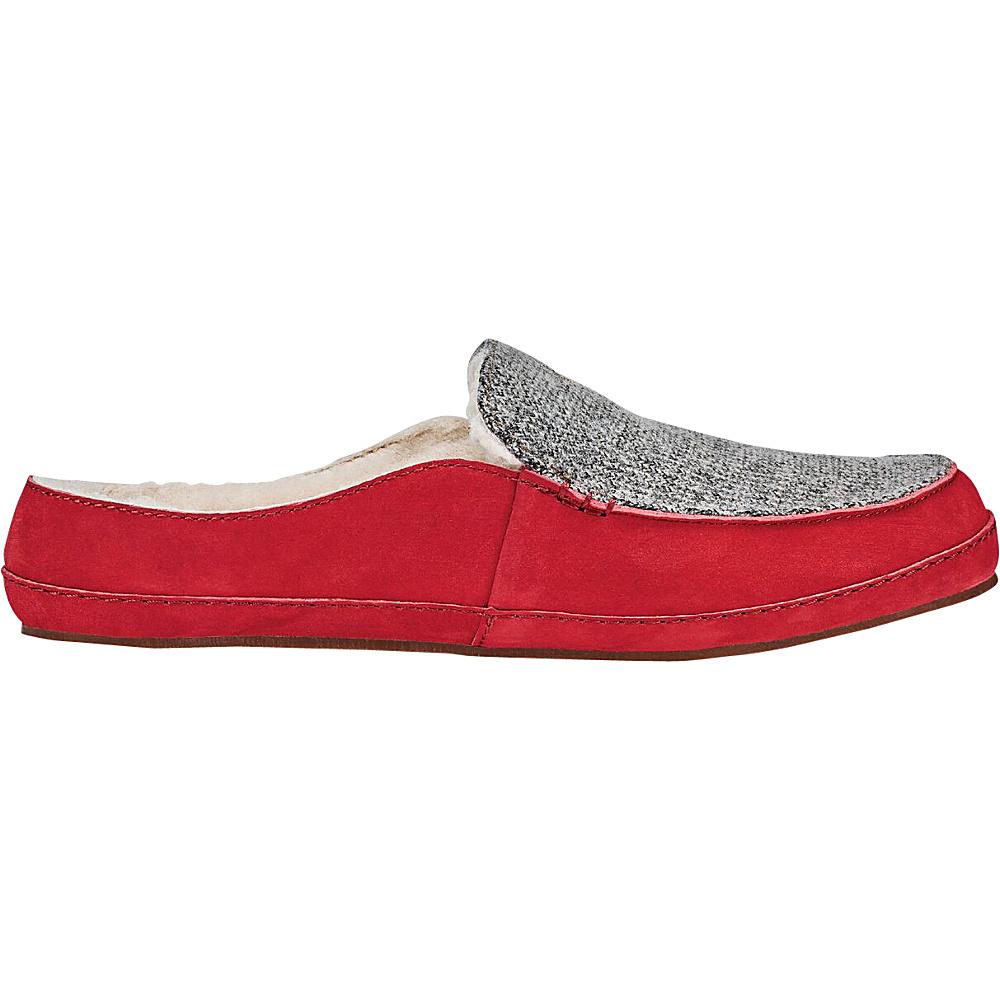 OluKai Womens Alaula Slipper 5 - Cooler Grey/Red Mud - OluKai Womens Footwear - Apparel & Footwear, Women's Footwear
