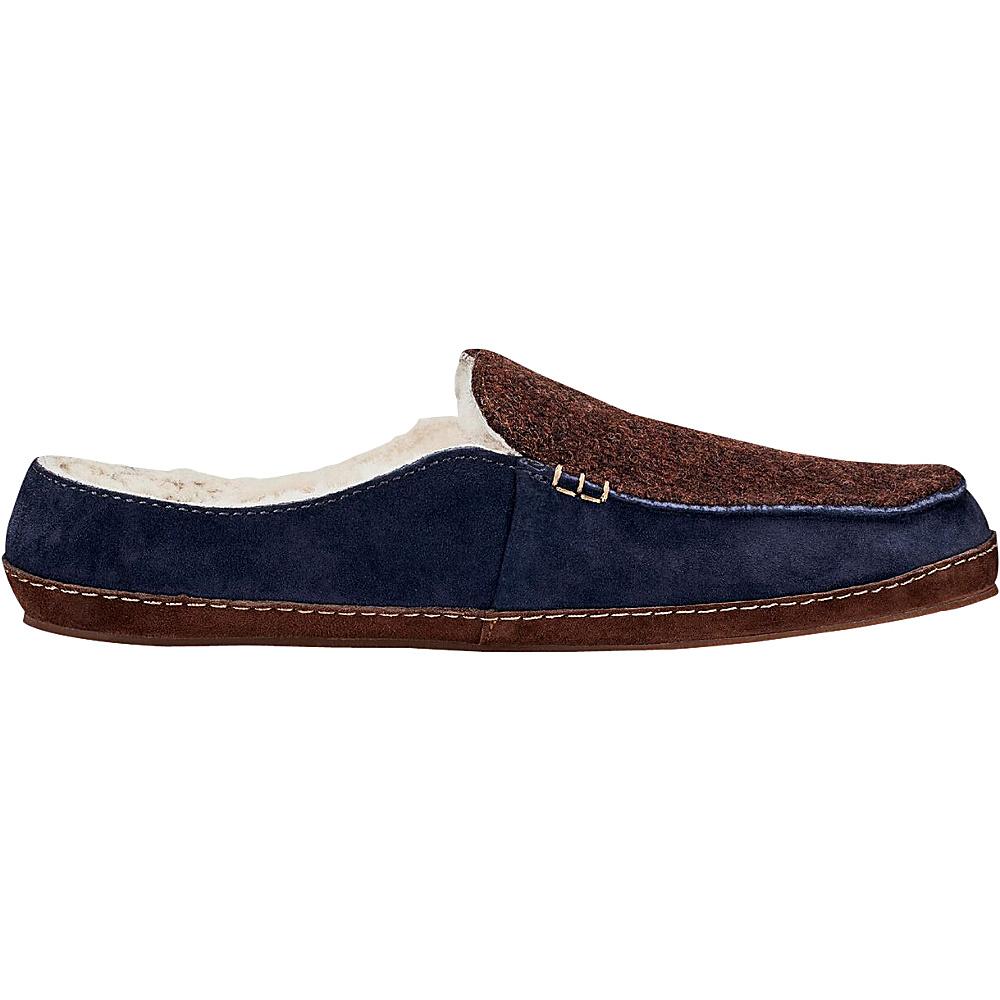 OluKai Womens Alaula Slipper 5 - Dark Java/Trench Blue - OluKai Womens Footwear - Apparel & Footwear, Women's Footwear