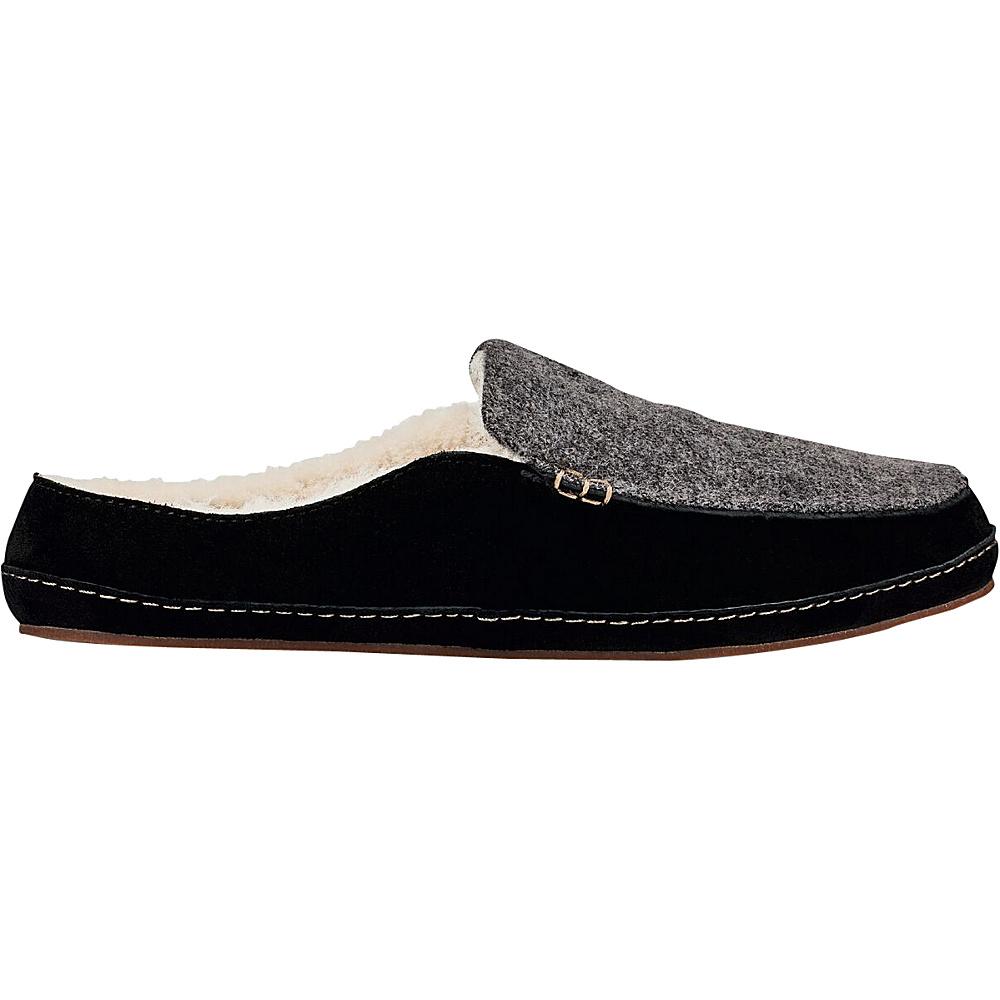 OluKai Womens Alaula Slipper 5 - Fog/Black - OluKai Womens Footwear - Apparel & Footwear, Women's Footwear