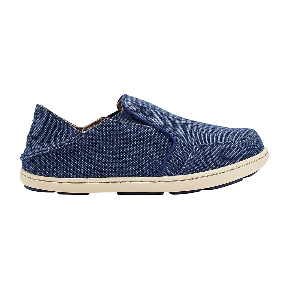 OluKai Boys Nohea Lole Slip-On 9 (US Toddlers) - Trench Blue/Trench Blue - OluKai Mens Footwear - Apparel & Footwear, Men's Footwear