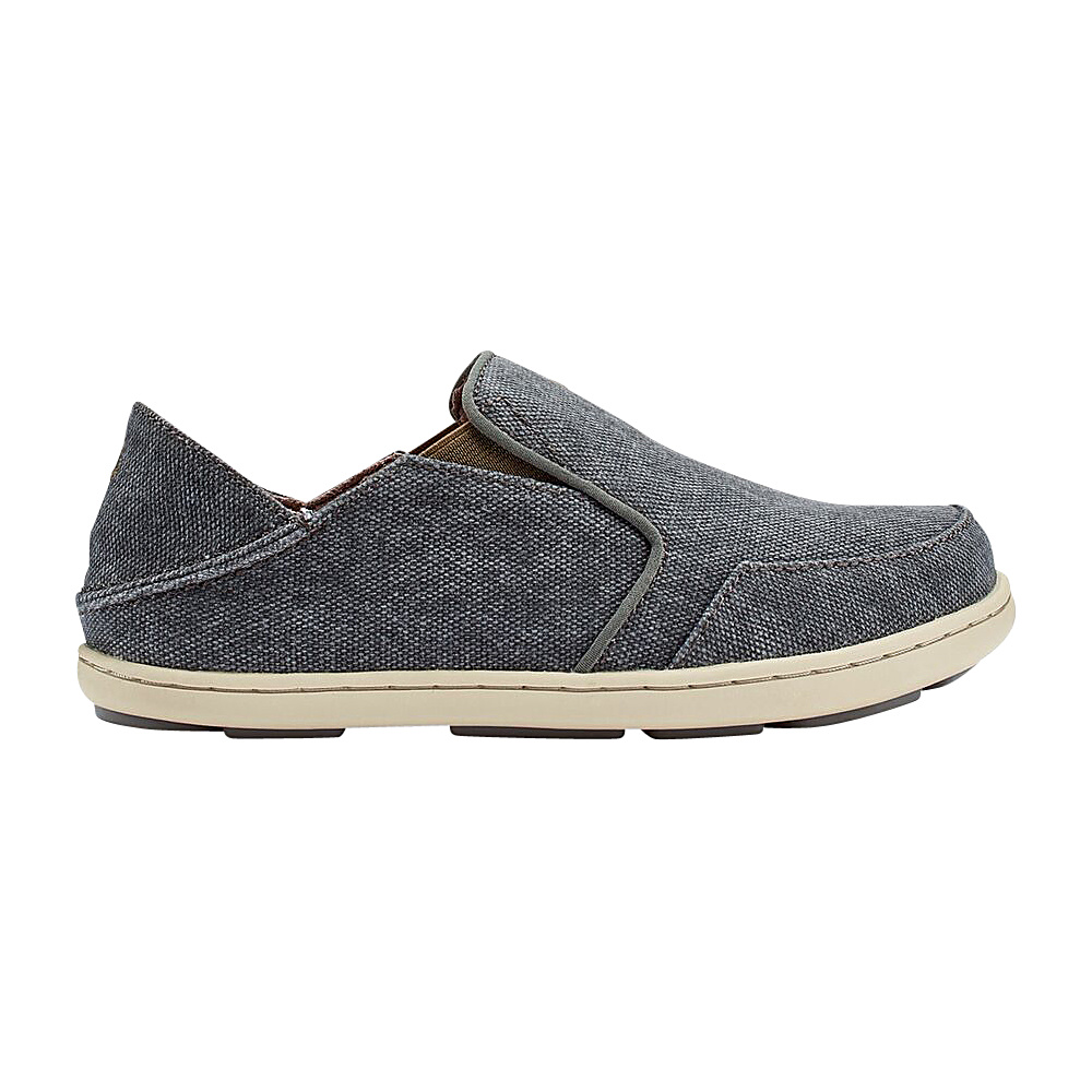 OluKai Boys Nohea Lole Slip-On 12 (US Kids) - Charcoal/Caper - OluKai Mens Footwear - Apparel & Footwear, Men's Footwear