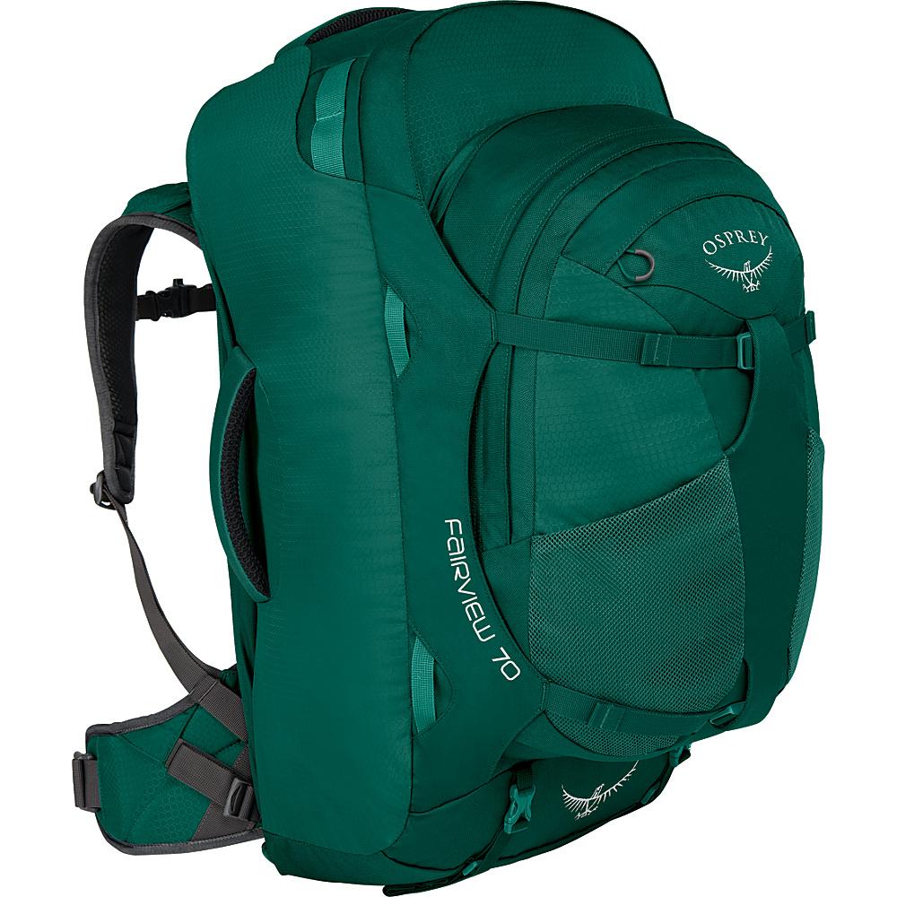 Osprey Womens Fairview 70L Travel Backpack Rainforest Green S/M - Osprey Travel Backpacks - Backpacks, Travel Backpacks