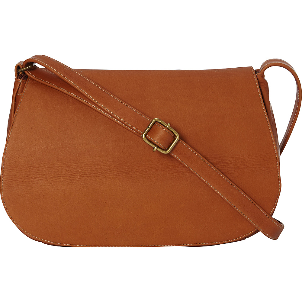 Le Donne Leather Eudora Flapover Tan - Le Donne Leather Leather Handbags - Handbags, Leather Handbags
