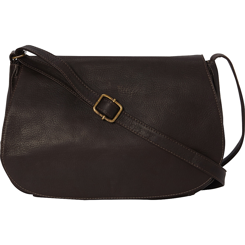Le Donne Leather Eudora Flapover Cafe - Le Donne Leather Leather Handbags - Handbags, Leather Handbags