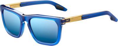 IVI Gravitas Sunglasses Matte Midway Blue - Antique Brass - IVI Eyewear