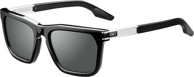 IVI Gravitas Sunglasses Polished Black - Brushed Silver/Grey Polarized AR - IVI Eyewear